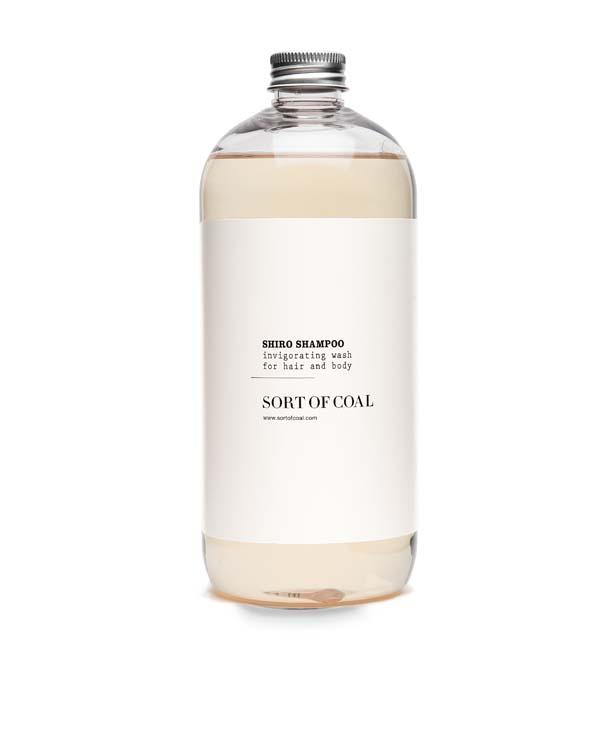 shampoo al carbone attivo shiro tappo