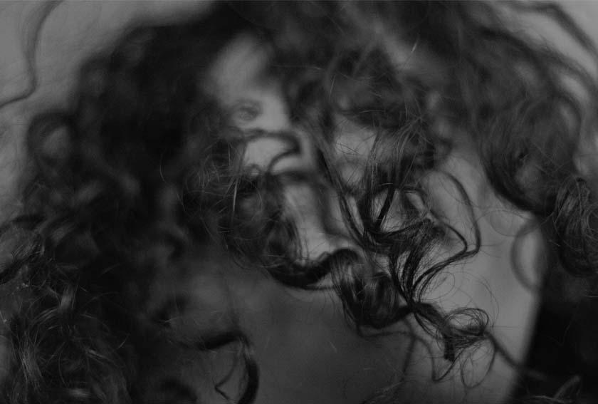curly hair detail