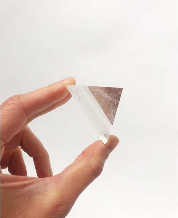 piramide di quarzo di rocca